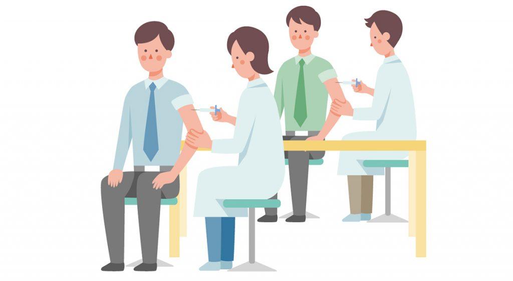 集団接種のイラストイメージ